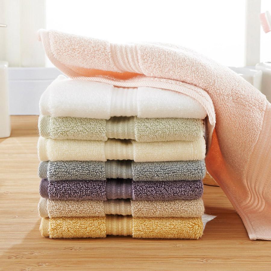Square Shape Plain Pattern Soft Cotton Face&Hand Towel