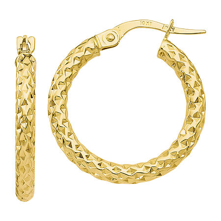 Made in Italy 10K Gold 23mm Hoop Earrings, One Size , No Color Family