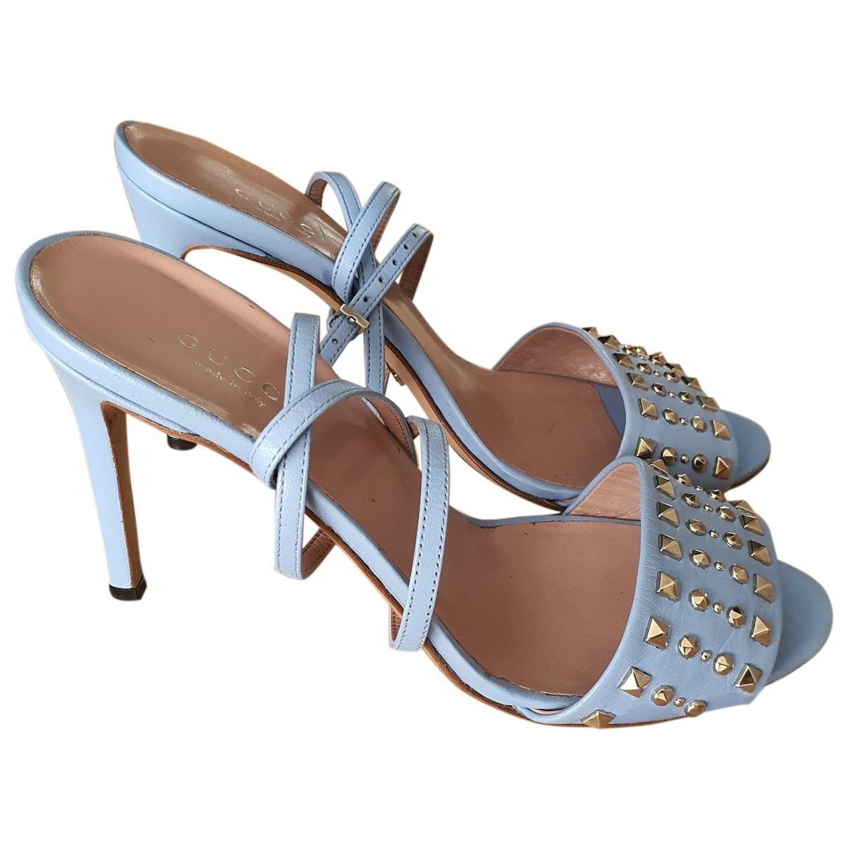 Gucci - Sandales   pour femme en cuir - bleu
