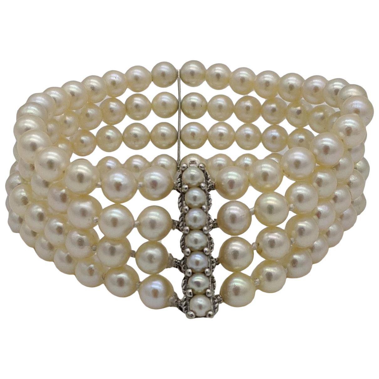 Non Signé / Unsigned \N Beige Pearl bracelet for Women \N