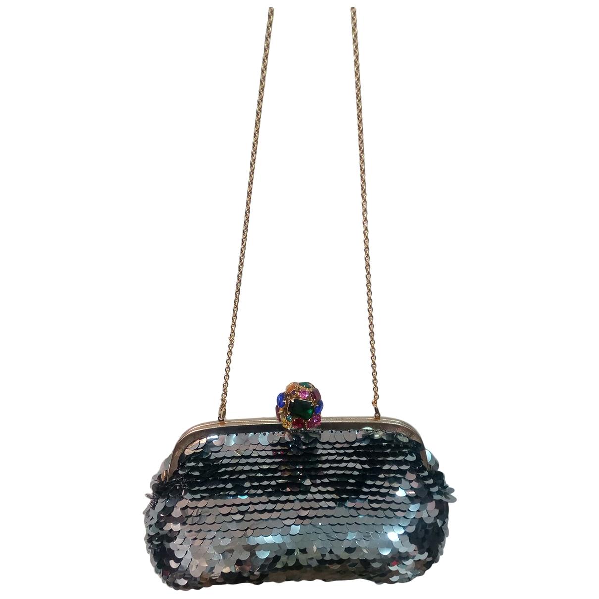 Dolce & Gabbana - Pochette   pour femme en a paillettes - gris