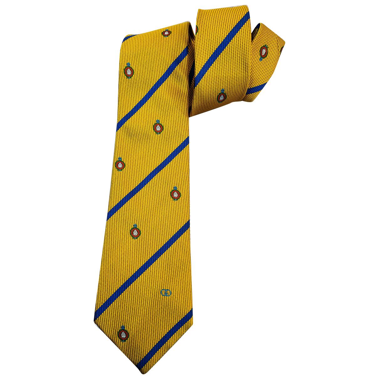 Gucci - Cravates   pour homme en soie - jaune