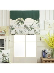 American Pastoral Thick Flax Blackout Decorative Vertical Roman Shades