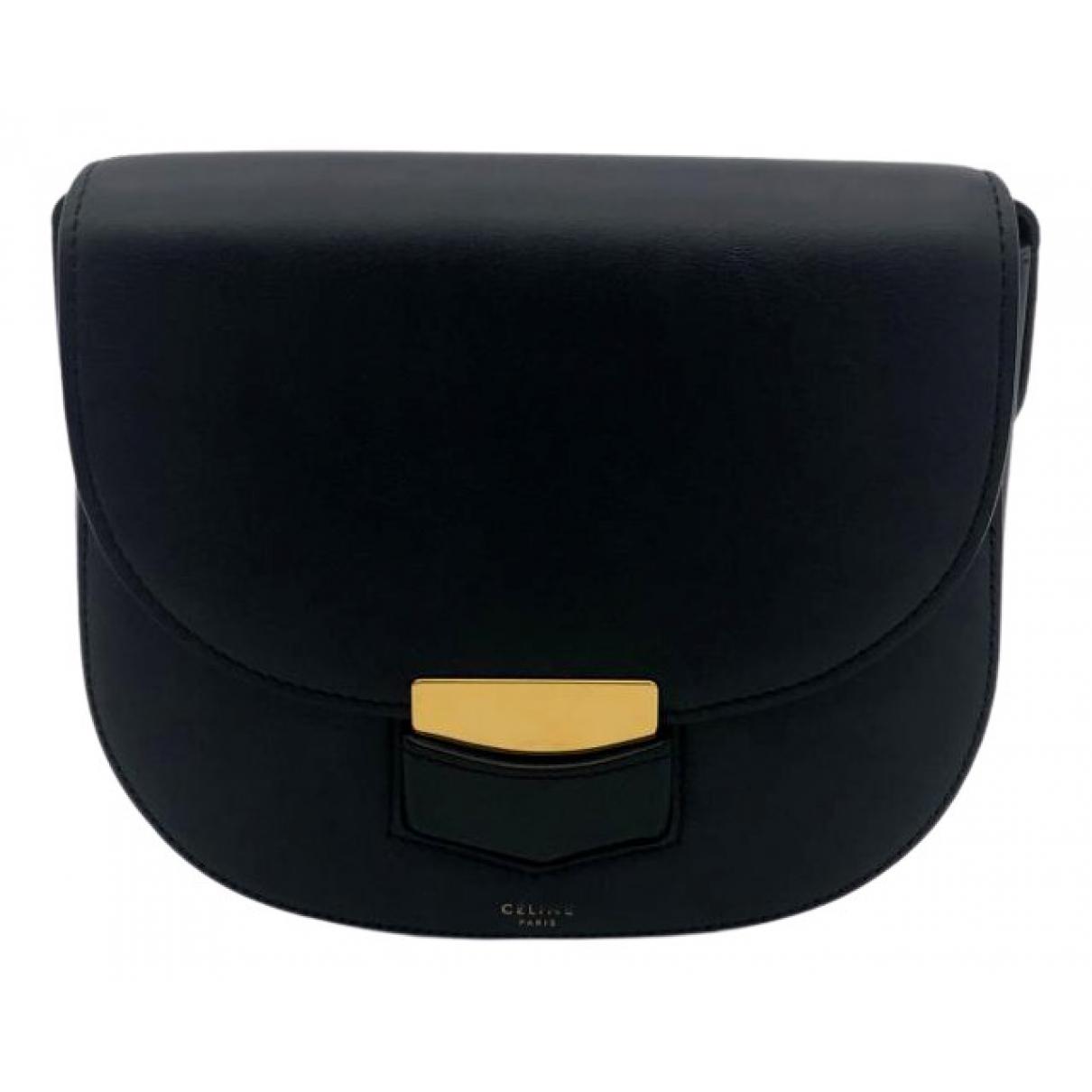 Celine Trotteur Black Leather handbag for Women \N