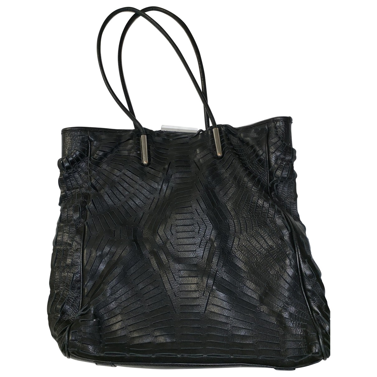 Mcq \N Black Leather handbag for Women \N