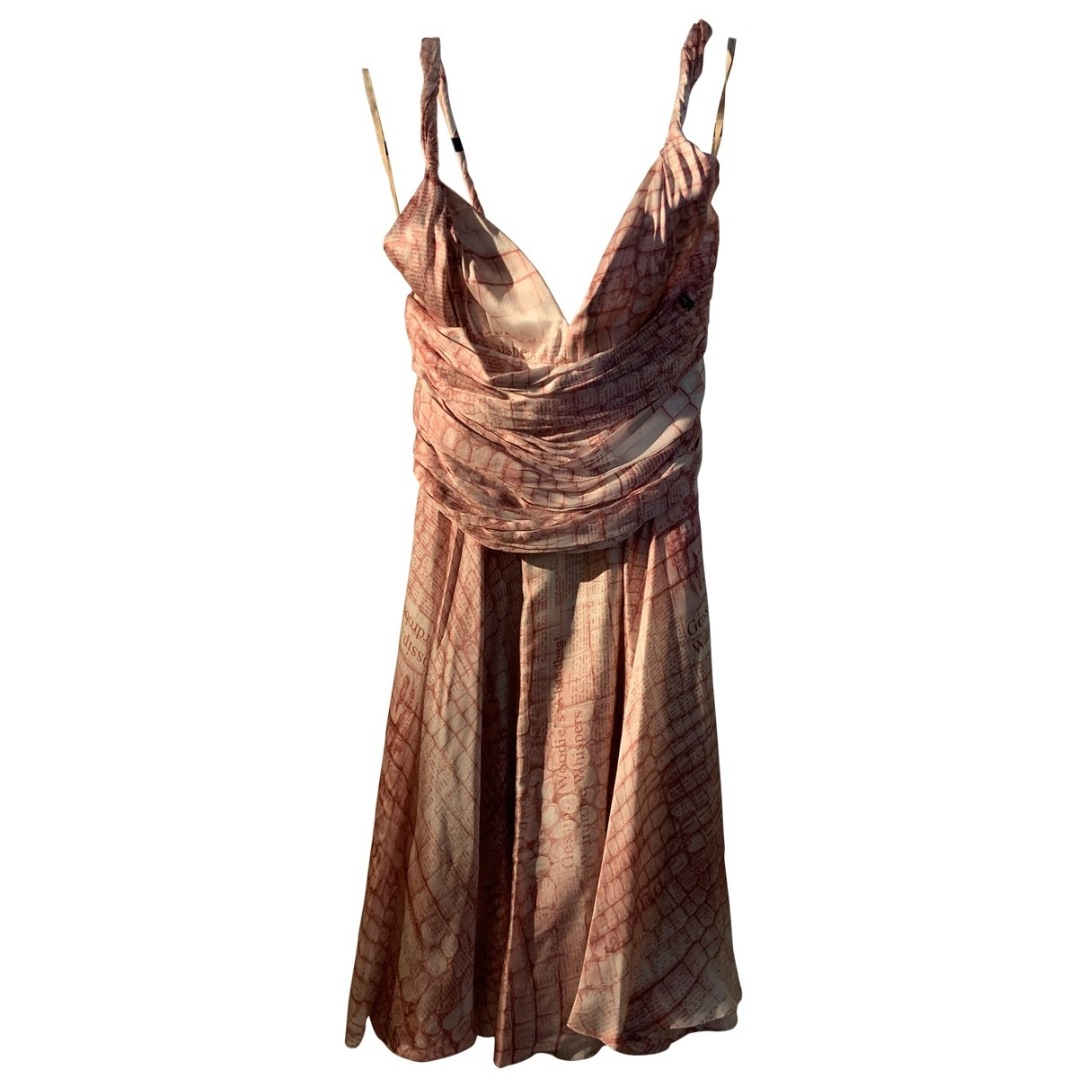 Galliano \N Kleid in  Rosa Seide