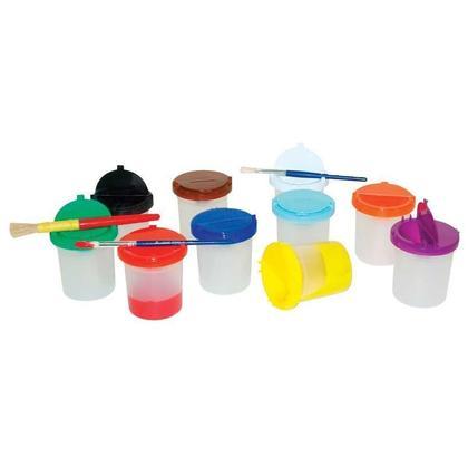 Funstuff@ non-d eversement Lumineux effacer couleurs pots de peinture avec couvercle set de 10(80020)