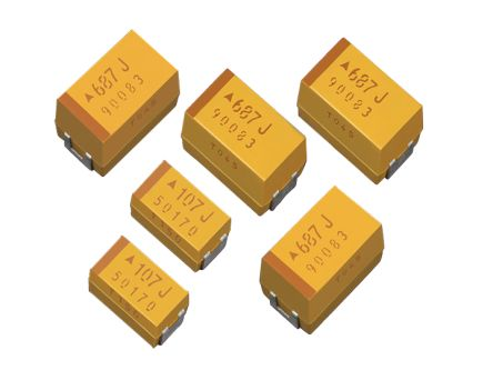 AVX Tantalum Capacitor 100μF 6.3V dc Electrolytic Solid ±10% Tolerance , TPS (500)