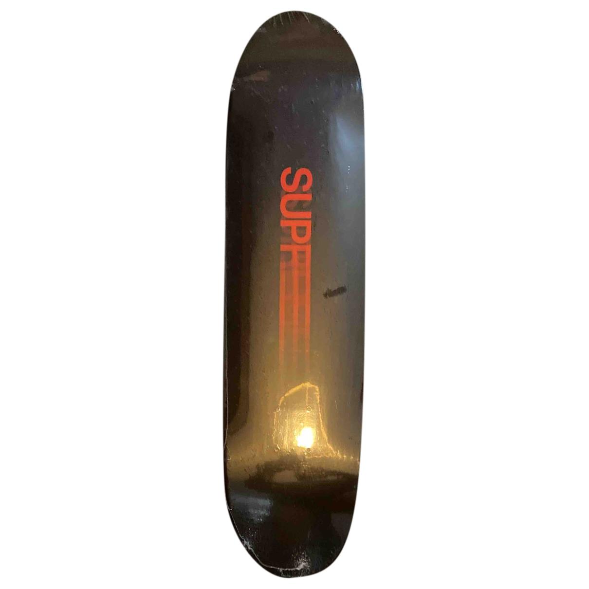 Supreme \N Black Wood Boards for Life & Living \N