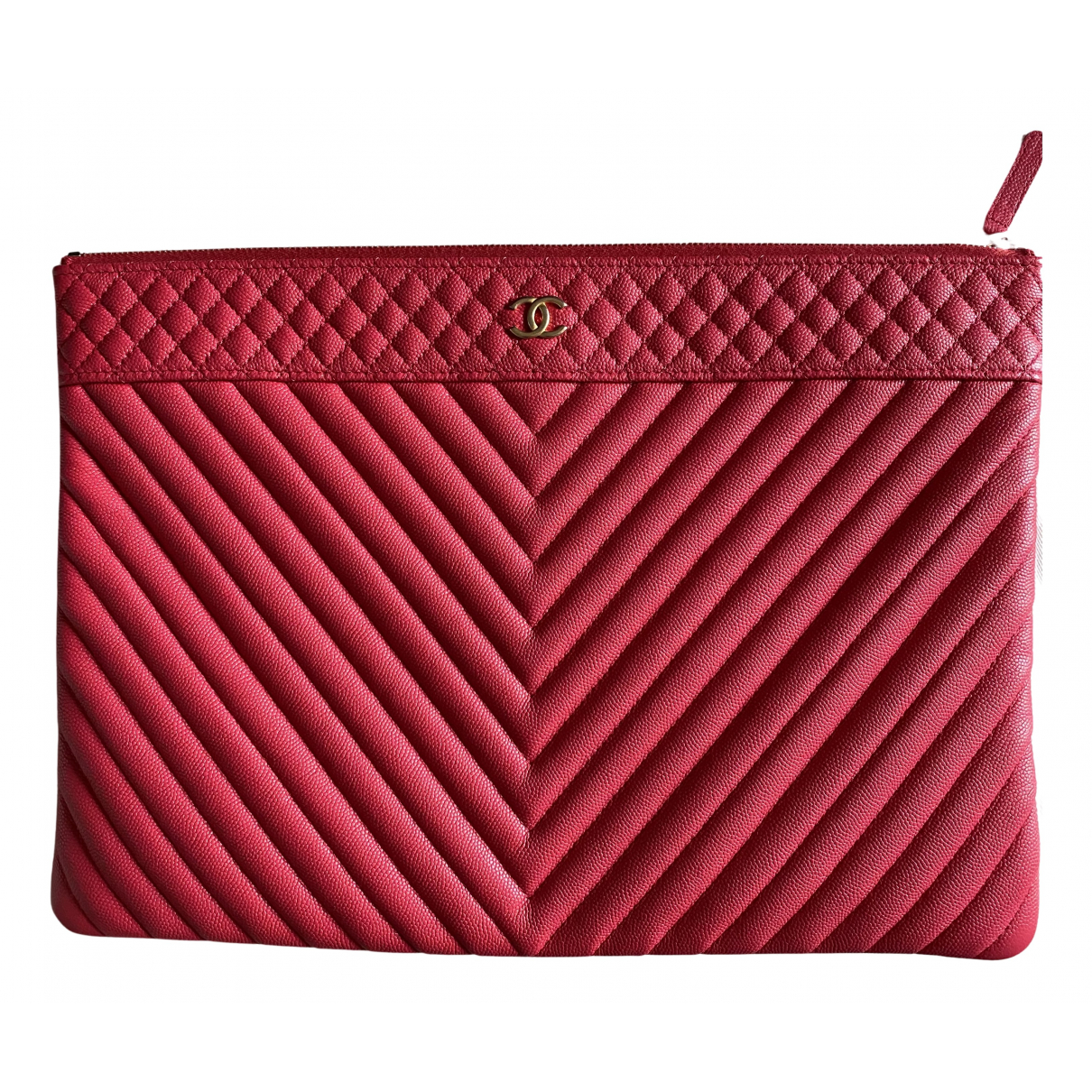Chanel Timeless/Classique Pink Leather Clutch bag for Women N