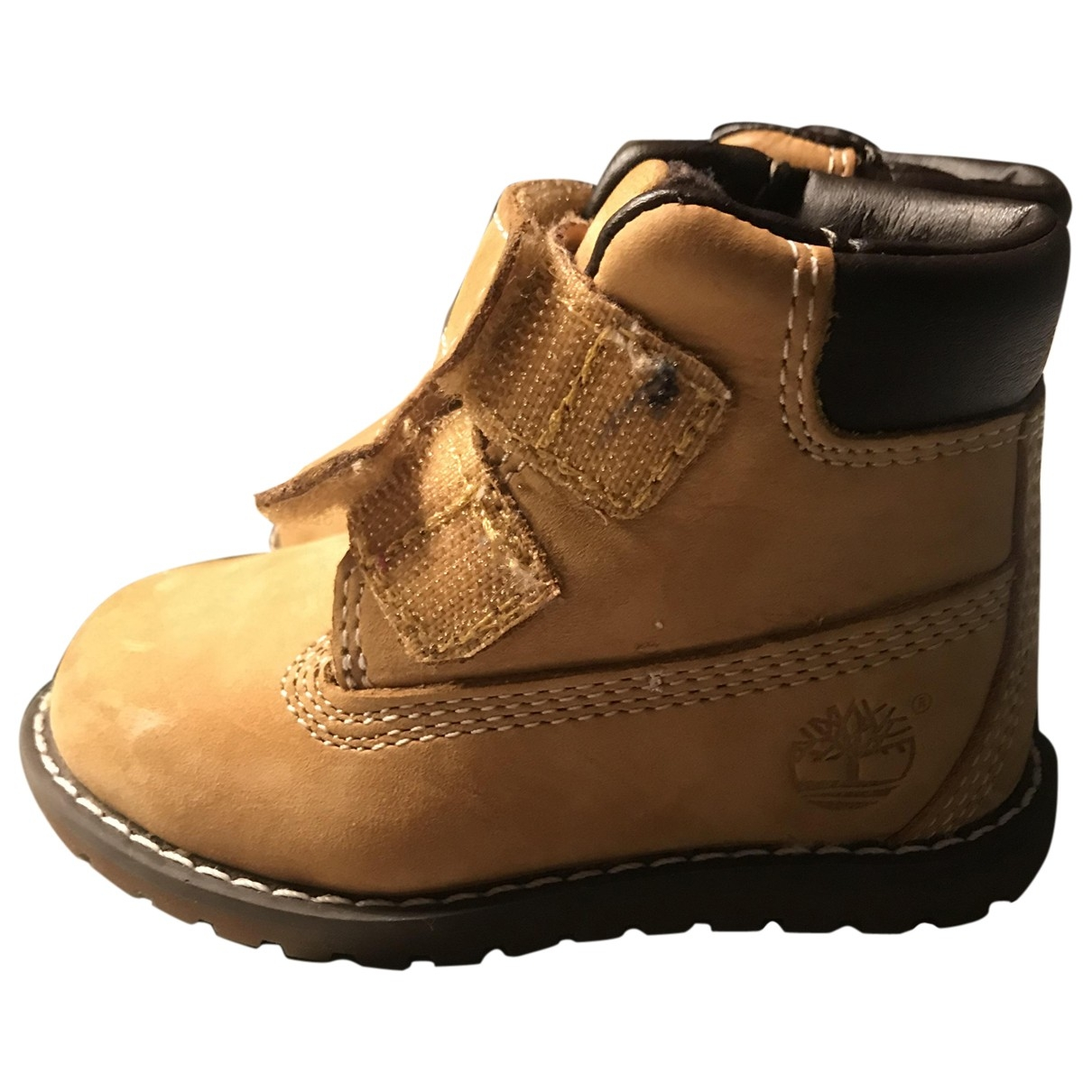 Timberland \N Beige Suede Boots for Kids 20 EU