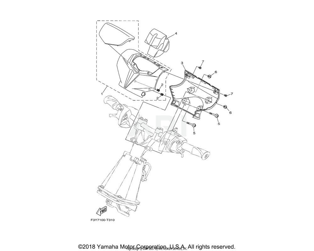 Yamaha OEM F3Y-U1421-00-00 PAD, STEERING