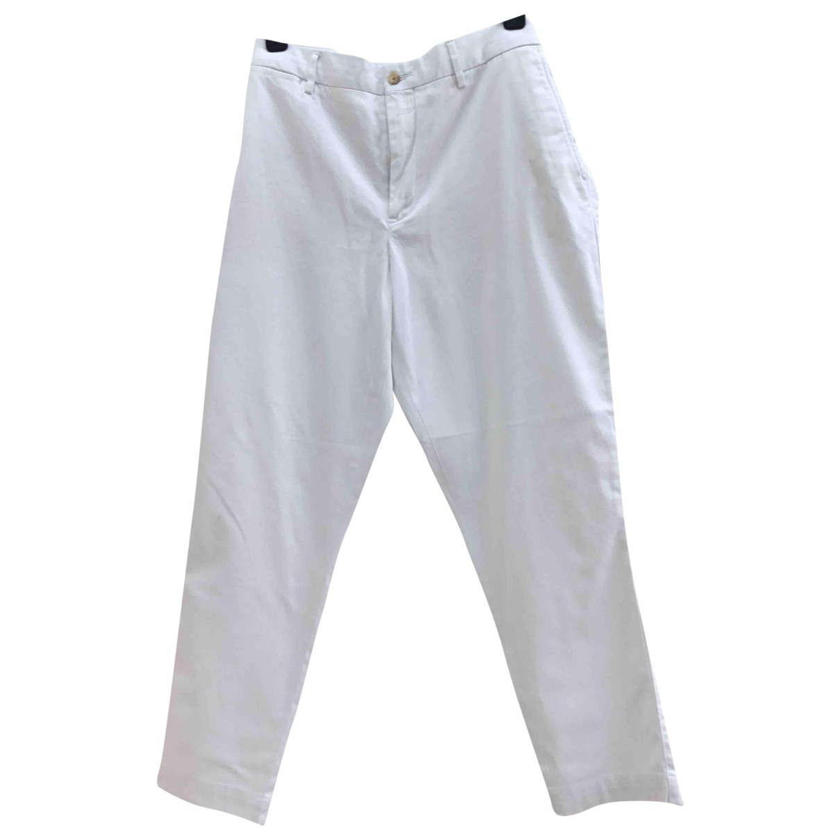 Polo Ralph Lauren \N White Cotton Trousers for Women 14 UK