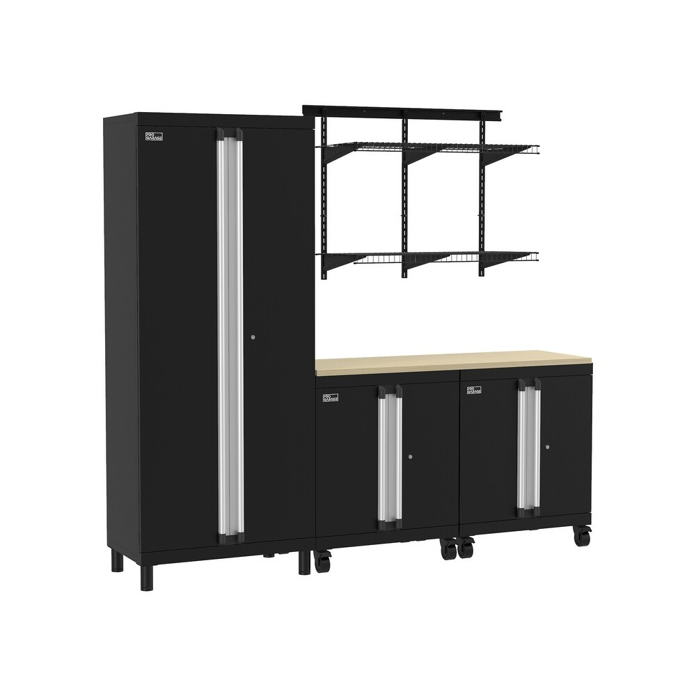 ClosetMaid ProGarage 5-pc. Steel Cabinet & MaxLoad Shelf Set (Black)