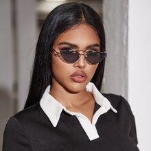 Sonnenbrille mit Cat Eye und Etui