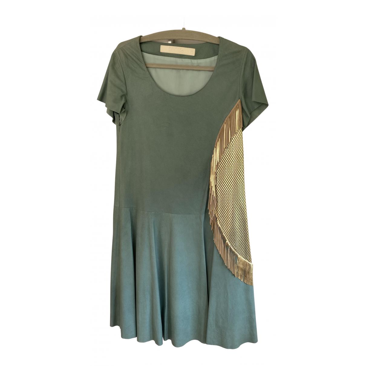 Drome \N Kleid in  Gruen Leder