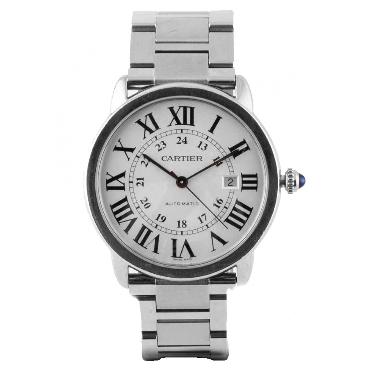 Cartier Ronde Solo Black Leather watch for Women 34 EU