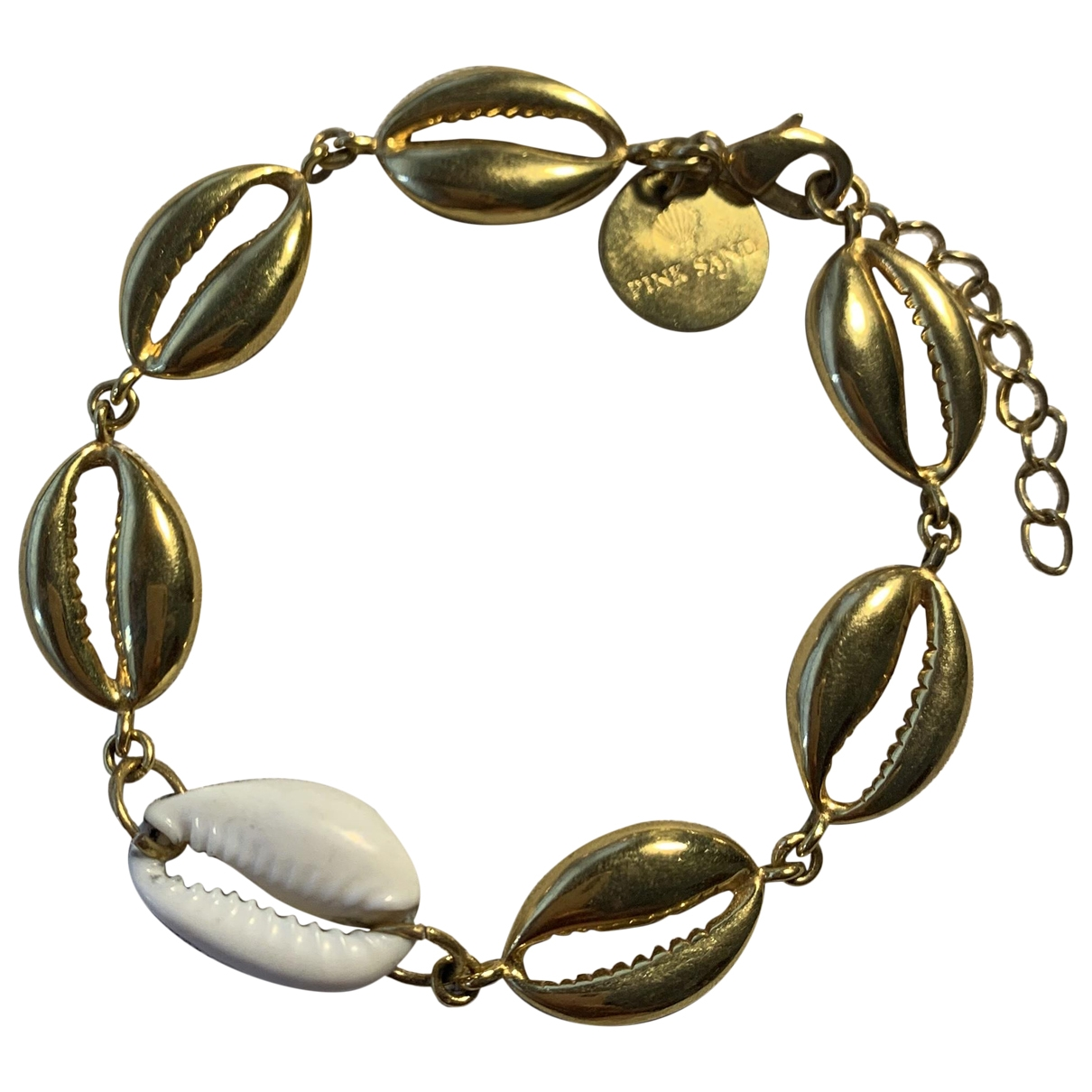 Non Signé / Unsigned Motifs Coquillages Gold Metal bracelet for Women \N