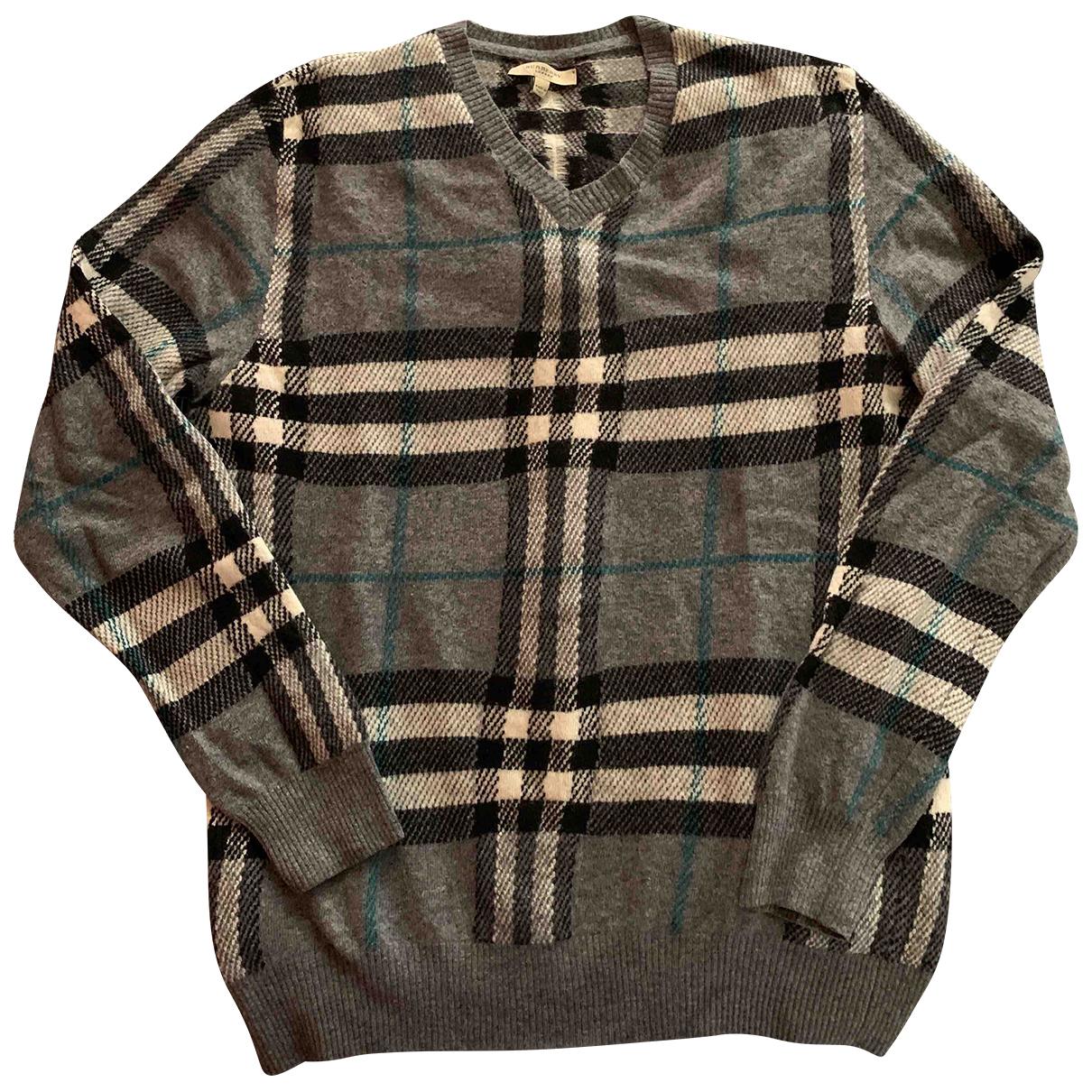 Burberry \N Pullover.Westen.Sweatshirts  in  Grau Wolle