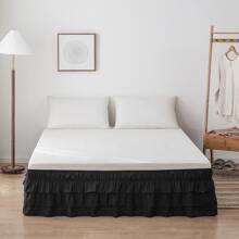 Falda de cama fruncido unicolor