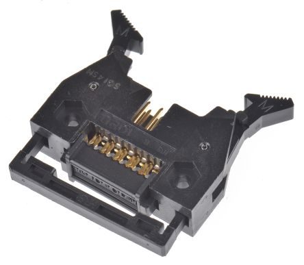 Hirose 10-Way IDC Connector Plug for Cable Mount, 2-Row