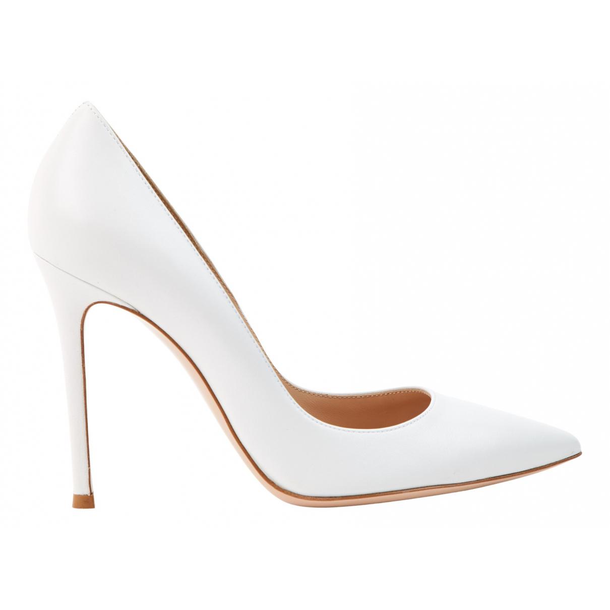 Gianvito Rossi - Escarpins Gianvito pour femme en cuir - blanc