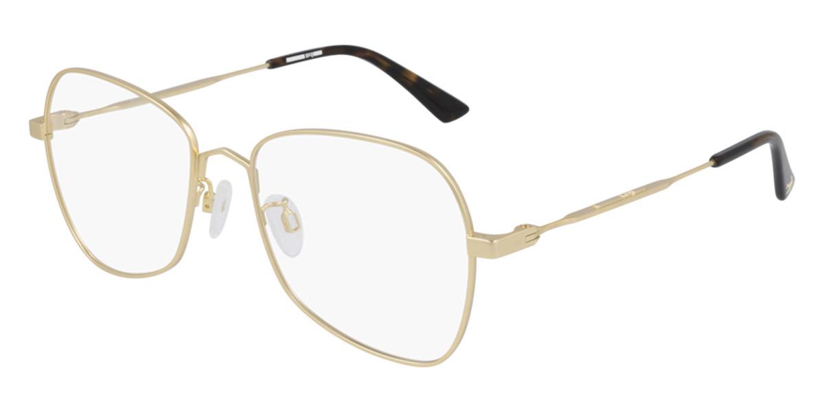 McQ MQ0289O 002 Men's Glasses Gold Size 55 - Free Lenses - HSA/FSA Insurance - Blue Light Block Available