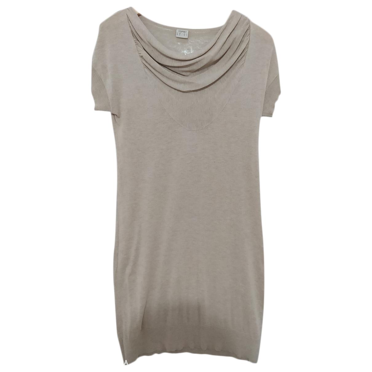 Esprit - Robe   pour femme en coton - beige
