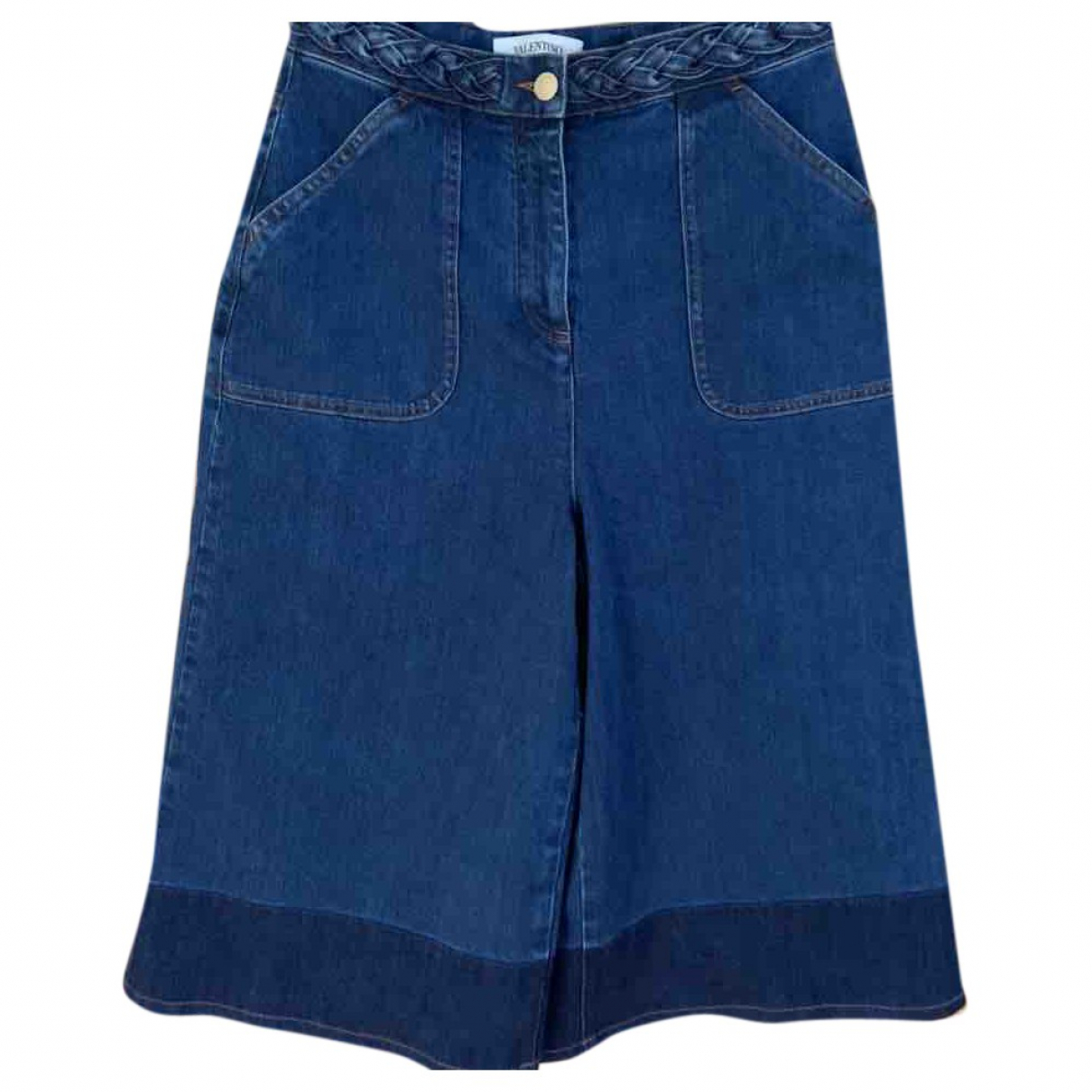 Valentino Garavani \N Blue Denim - Jeans Shorts for Women 42 IT