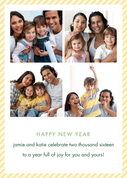 New Year's 5x7 Folded Cards, Standard Cardstock 85lb, Card & Stationery -Photo Booth New Year