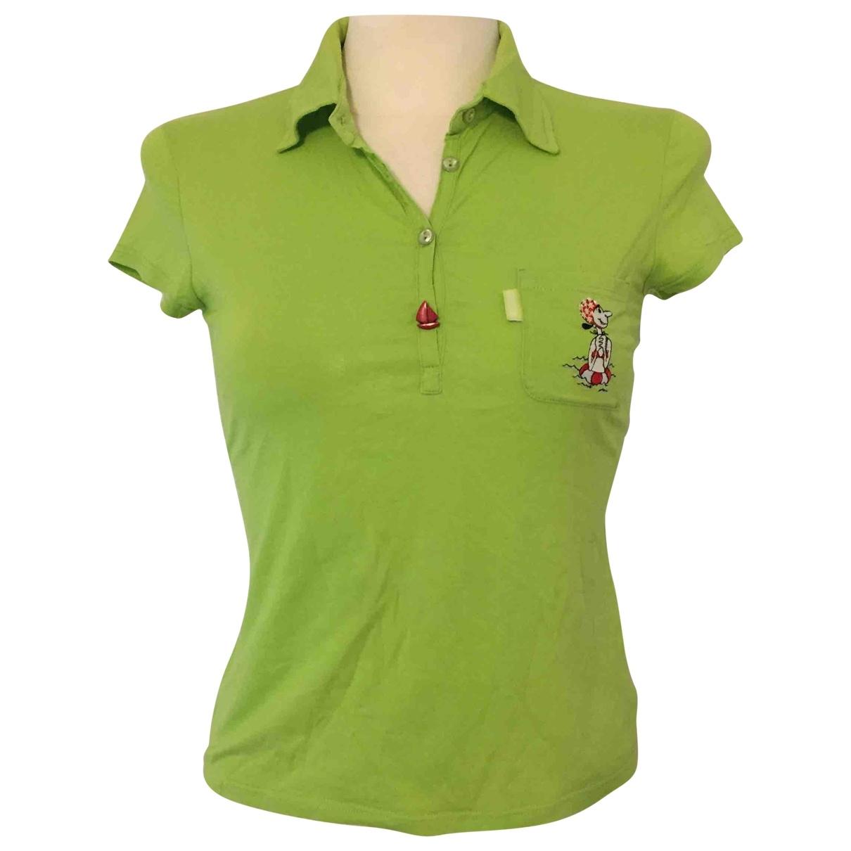 Moschino - Top   pour femme en coton - vert