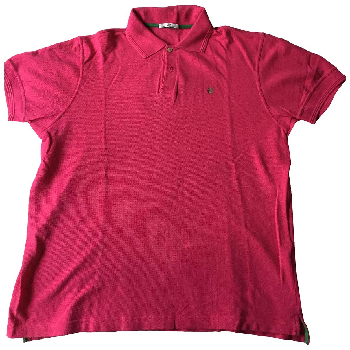 Carolina Herrera - Polos   pour homme en coton - rose