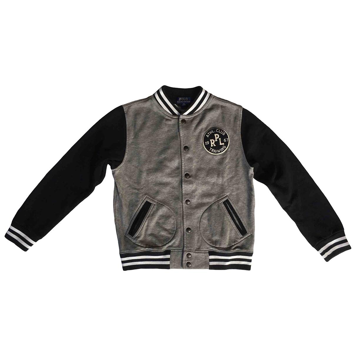 Polo Ralph Lauren \N Pullover, StrickJacke in  Grau Baumwolle
