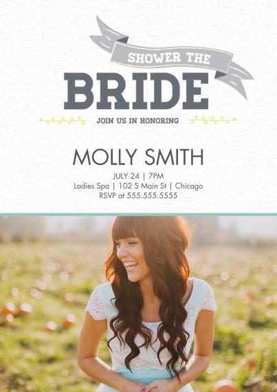 Wedding Shower Invites 5x7 Cards, Standard Cardstock 85lb, Card & Stationery -Lovebirds Shower the Bride