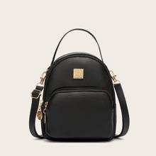 Curved Top Pocket Front Backpack