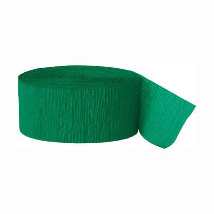 Décorations de fête Party Streamer Crepe Paper 81 ft - vert émeraude