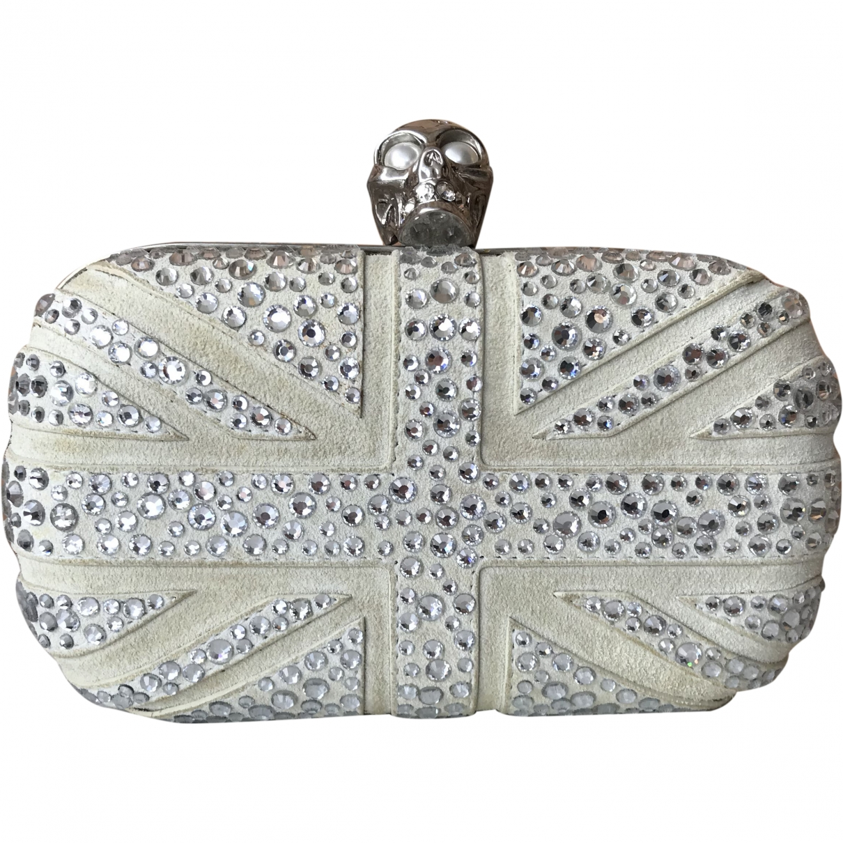 Alexander Mcqueen Skull Grey Suede Clutch bag for Women \N