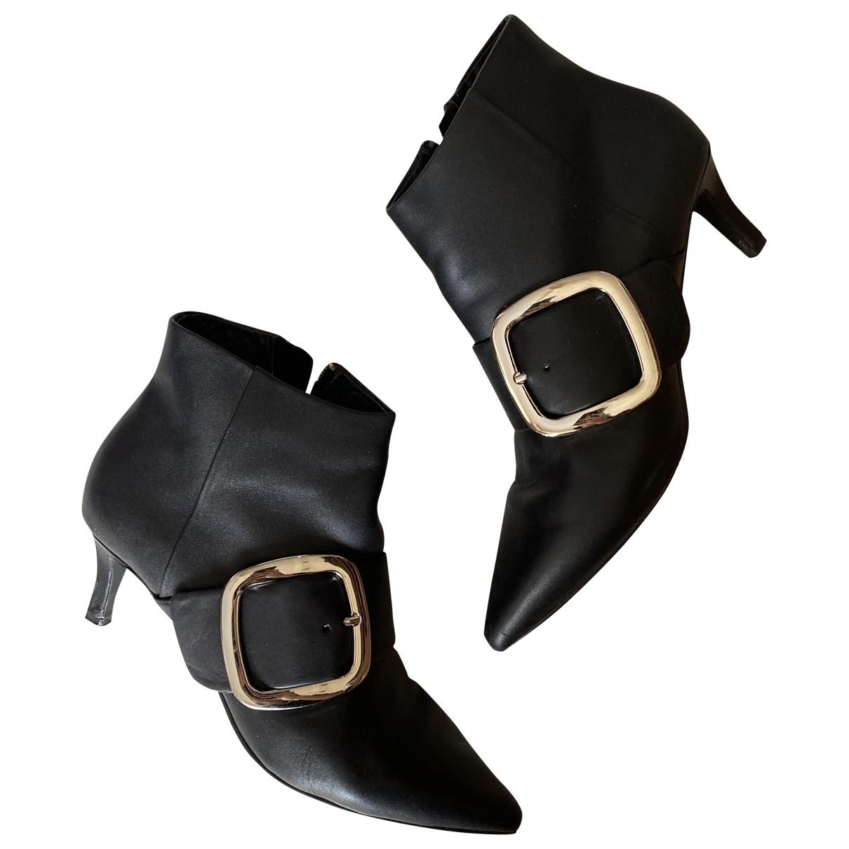 Senso - Bottes   pour femme en cuir - noir