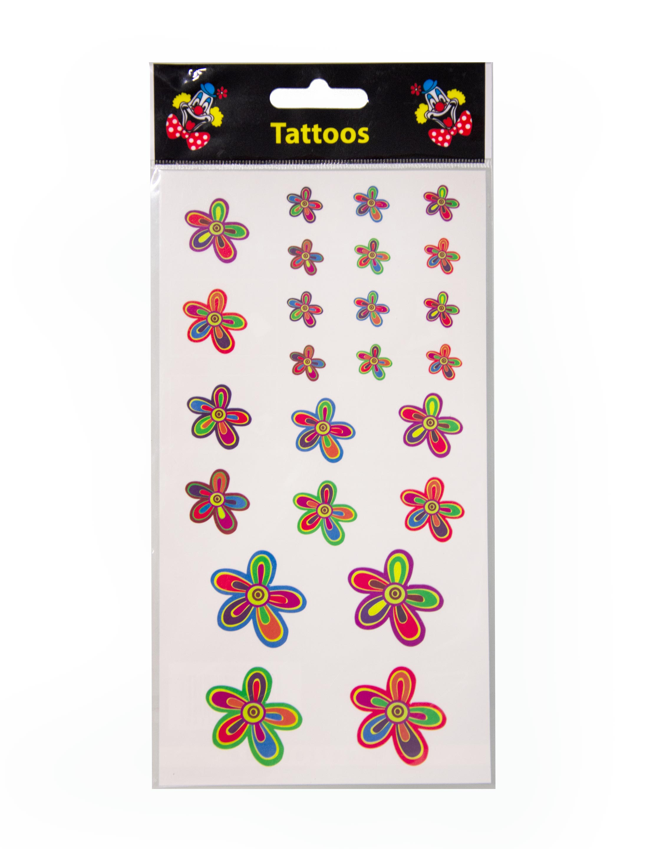 Kostuemzubehor Tattoos Flower Power Farbe: multicolor bzw. bunt