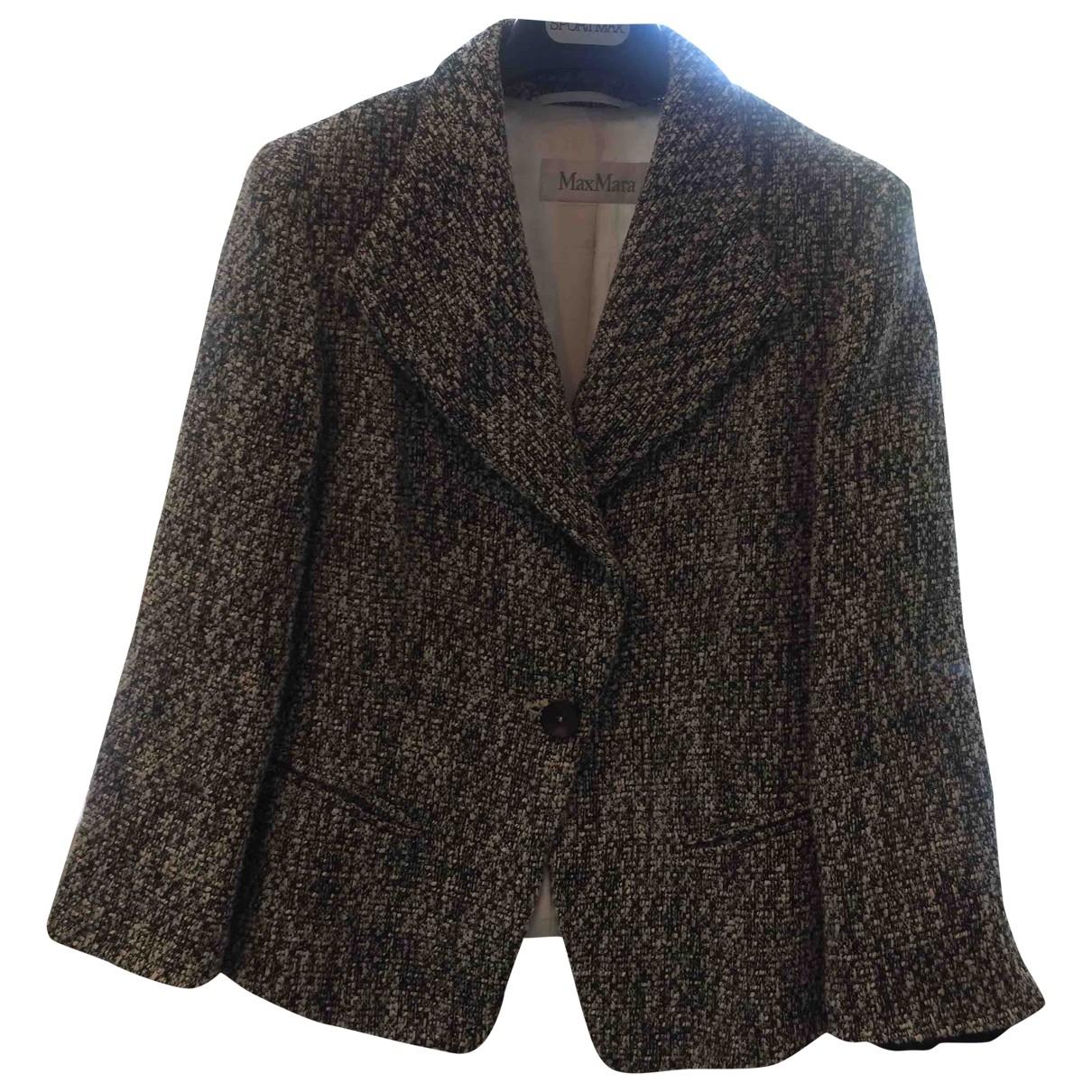 Max Mara \N Brown Cotton jacket for Women 40 IT