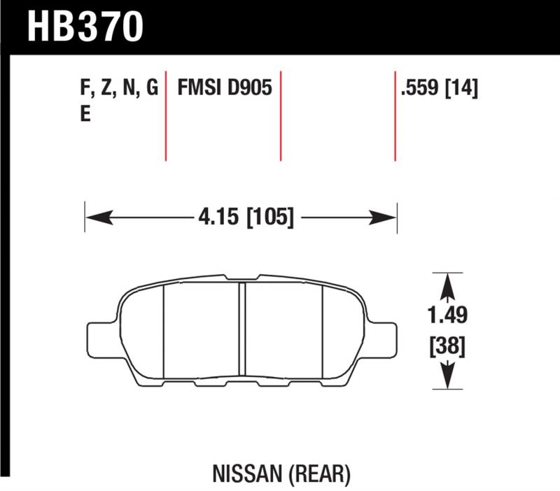 Hawk Performance HB370Z.559 Disc Brake Pad Rear