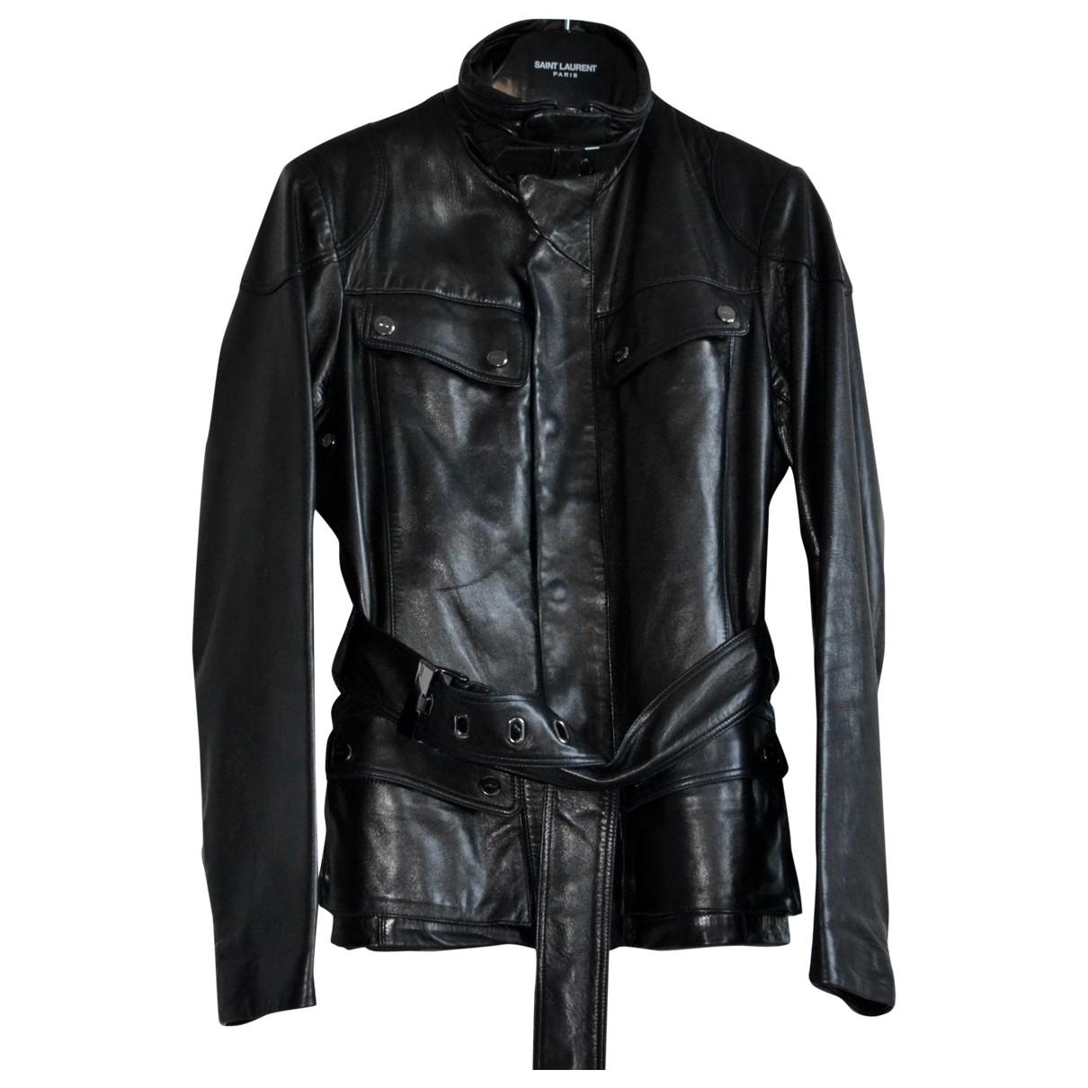 Ralph Lauren Collection \N Jacke in  Schwarz Leder
