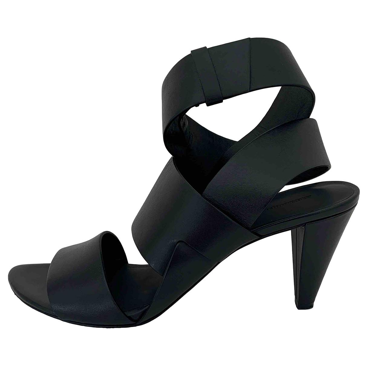 Alexander Wang - Sandales   pour femme en cuir - noir