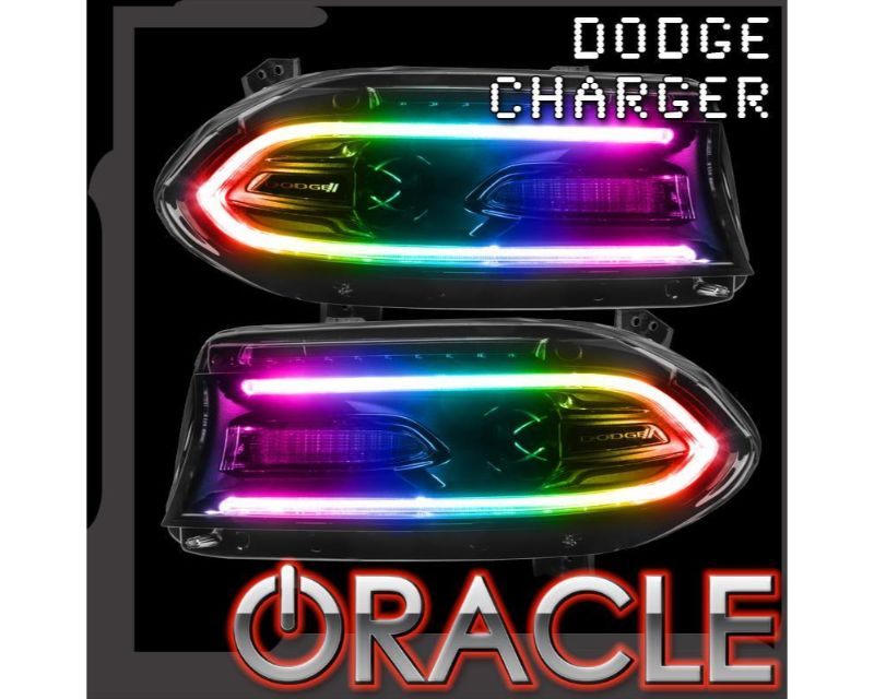 Oracle Lighting 1443-504 Rgb+W Drl Headlight Conversion Kit Dodge Charger 2015-2021 Colorshift - Simple
