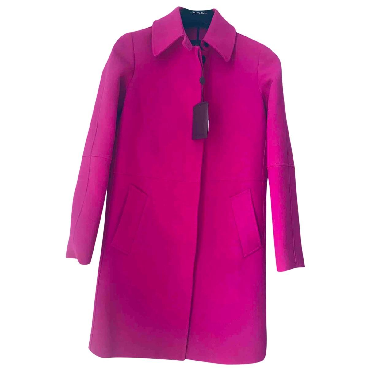 Louis Vuitton \N Pink Wool coat for Women 38 FR