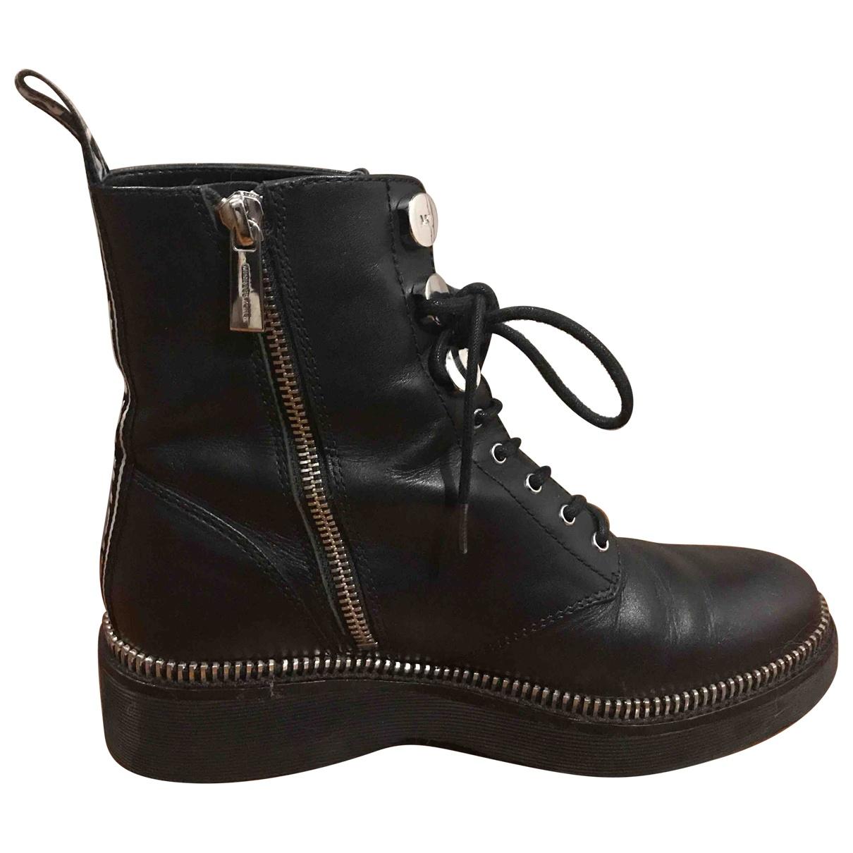 Michael Michael Kors - Boots   pour femme en cuir - noir