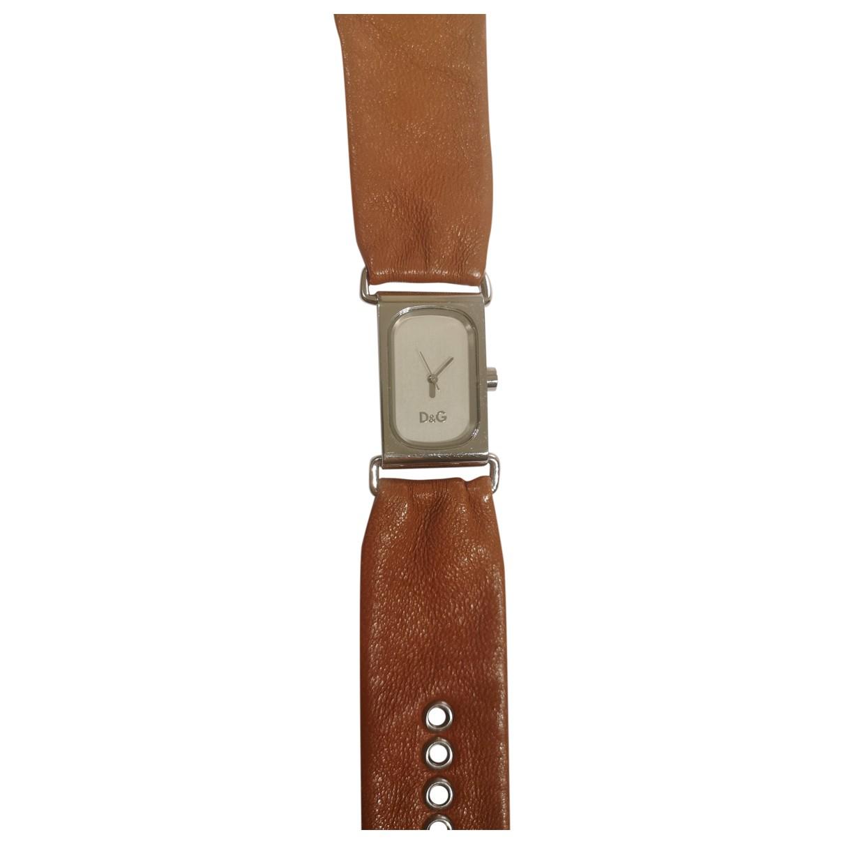 D&g \N Camel Steel watch for Women \N