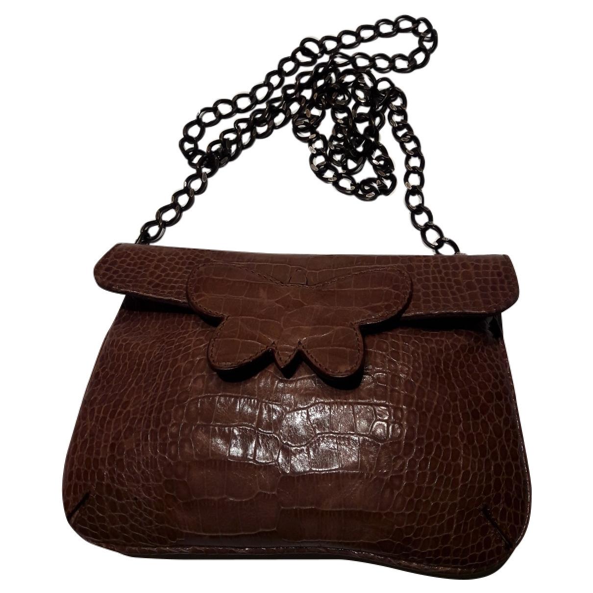 Max Mara \N Camel Leather handbag for Women \N