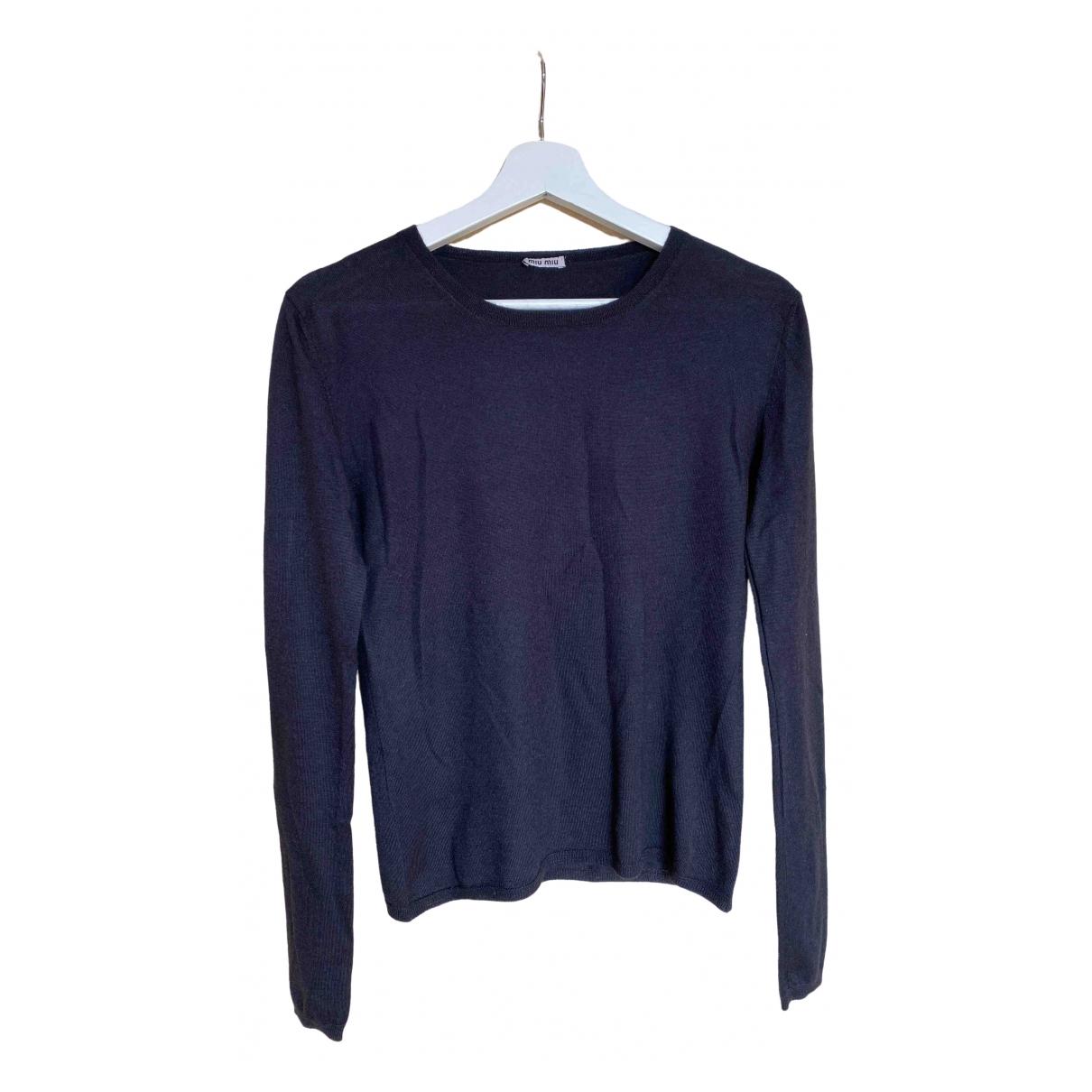 Miu Miu \N Black Cashmere Knitwear for Women 42 IT