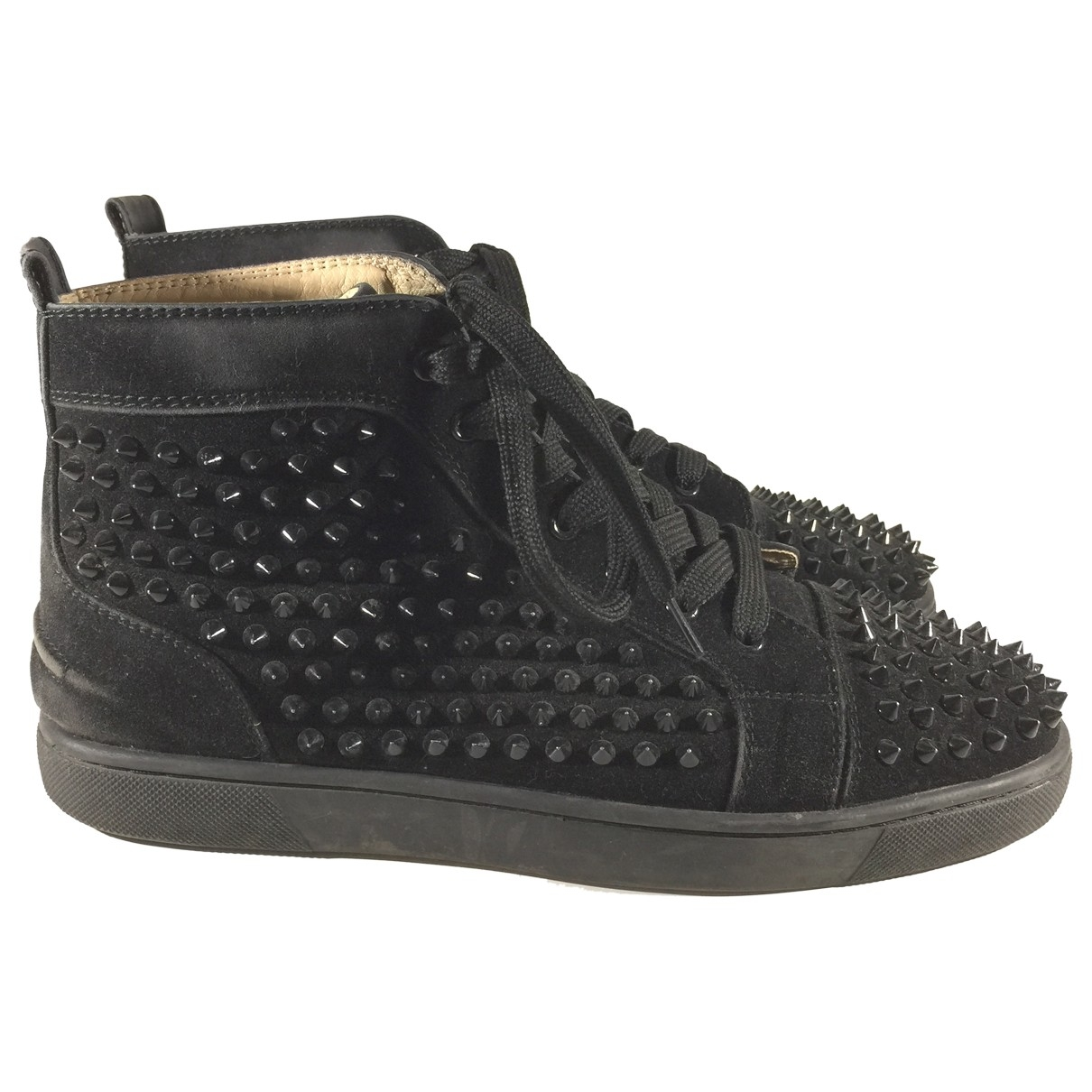 Christian Louboutin Louis Black Suede Trainers for Men 9 UK